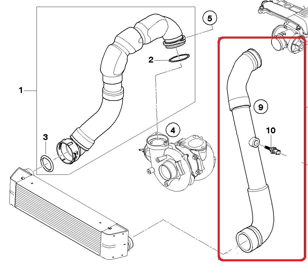Trubka Vzduchova Pro Intercooler Bmw X5 E53