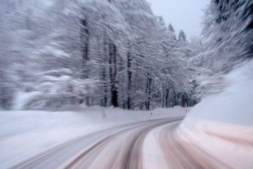 Speeding in snow