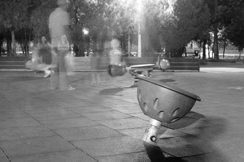 Ghosts on the playground