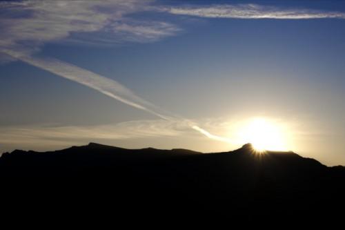 Sunset on Ceahlau