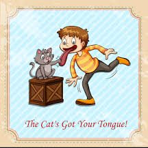 the cat`s got your tongue
