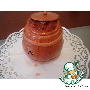 पकाने की विधि: कैवियार के साथ बैरल केक