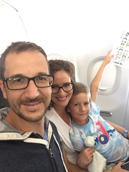 Konečne v lietadle smerom do Španielska.