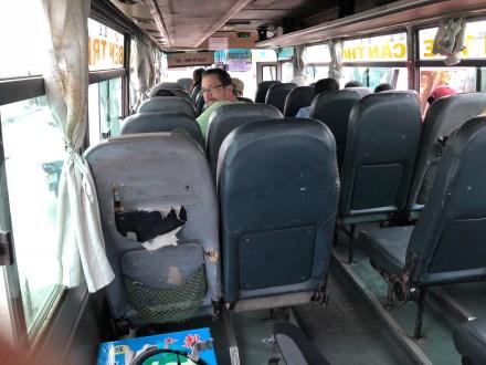 Cestovanie miestnym autobusom z Can Tho do Ben Tre.