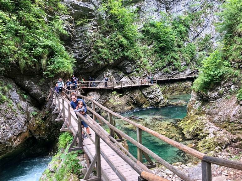 Prechádzka cez Vintgar Gorge