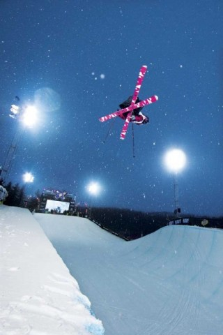 Burke winning life, and another Winter X Games SuperPipe Gold Medal. PHOTO: CHRISTIAN PONDELLA