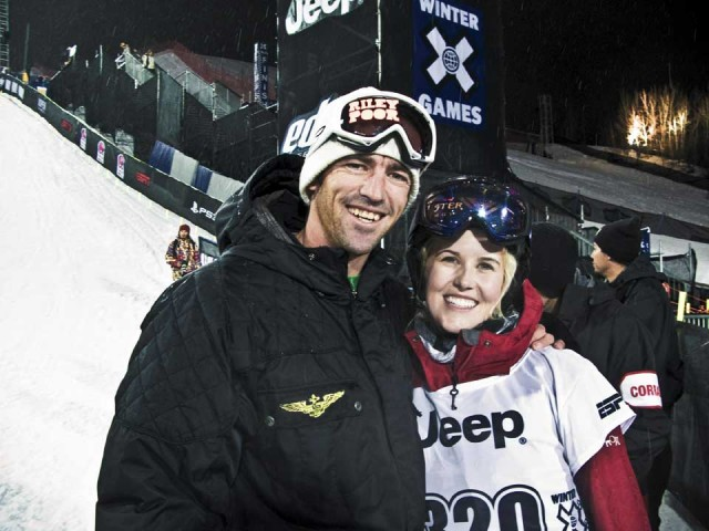 Sarah and  coach Trennon Paynter, one of her best friends. PHOTO: CANADIAN SKI HALFPIPE TEAM