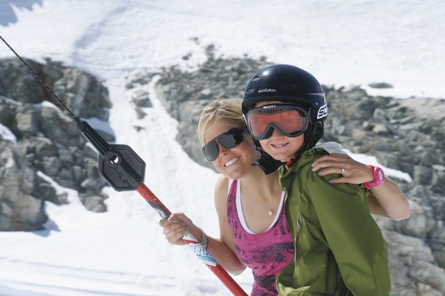 Burke's most direct influence may have been on the campers at Momentum where she coached. PHOTO: MOMENTUM SKI CAMPS