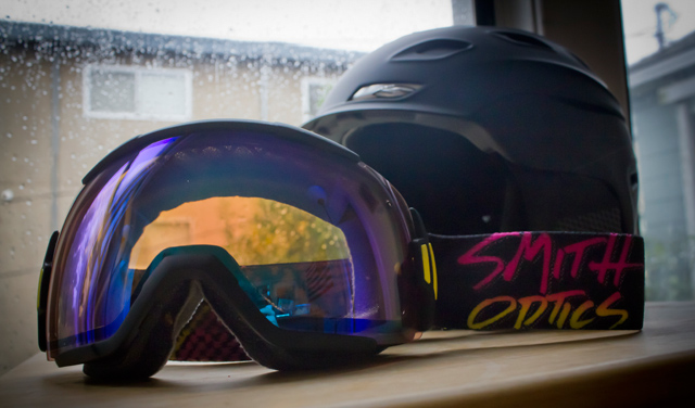 The new Smith Vice goggles are a bit sturdier than the i/o. And the new and improved Vantage is lighter, but stronger. How does that happen? PHOTO: Kade Krichko