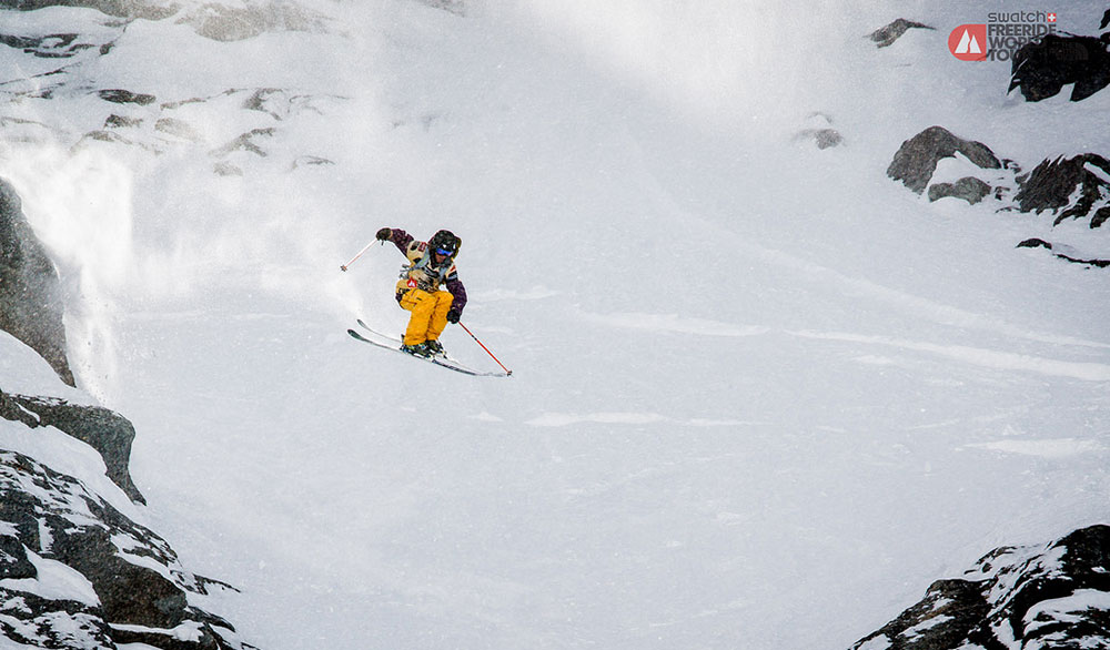 Defending Champion Loic Collomb-Patton flashing an air in his winning run at the Verbier Extreme last year. PHOTO: Freeride World Tour