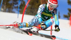 Mikaela Shiffrin races at US Nationals 2012