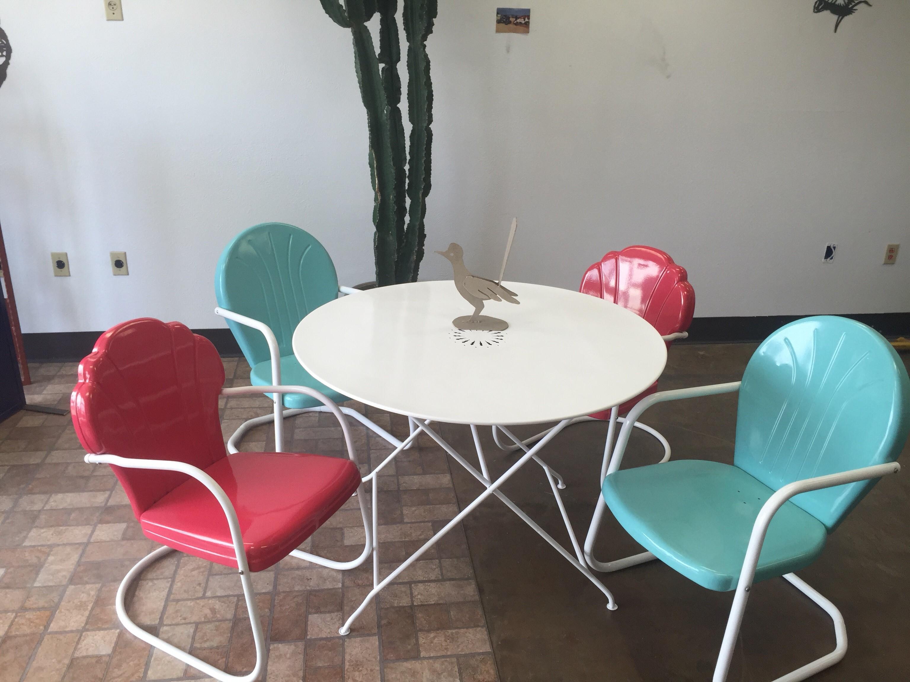 retro patio furniture refurbished