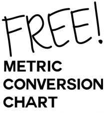 Fraction>Decimal>Metric Conversion Chart