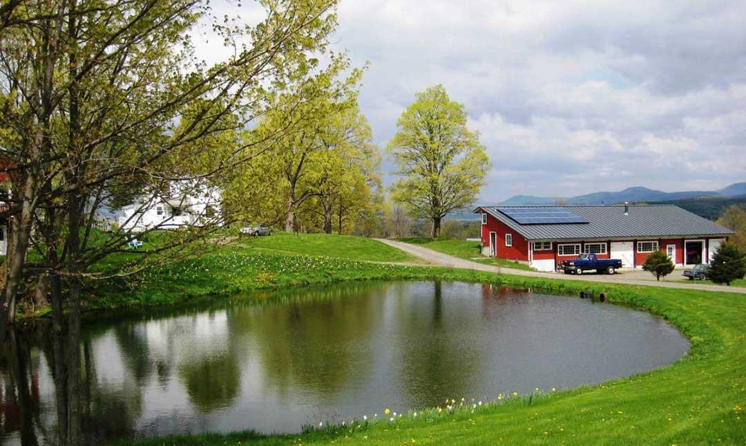 Farm with pond