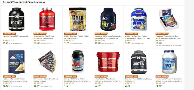 Supplement Cyber Monday Angebote