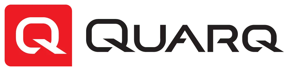 Black version of the Quarq power meter logo. Quarq is a triathlon partner of Power2Tri