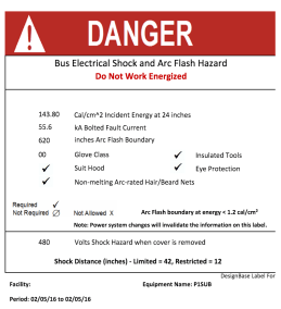Create Graphic and Text Danger! labels when necessary
