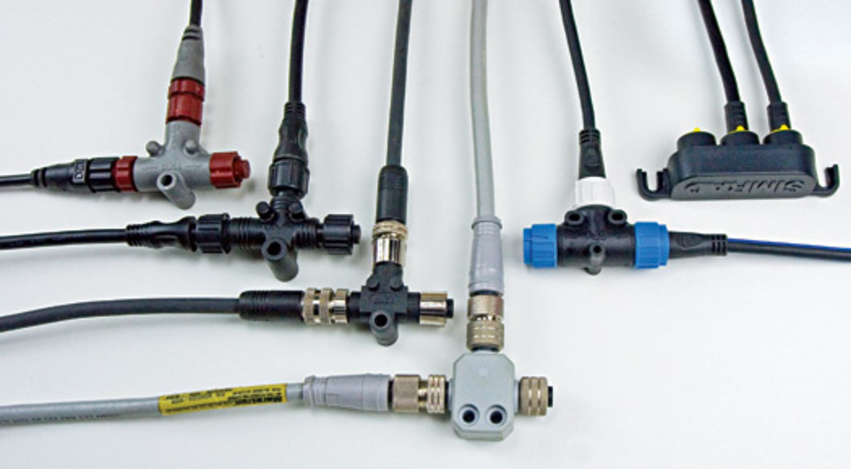 hight resolution of nmea 2000 cables and t connections from left to right lowrance garmin airmar maretron raymarine and simrad