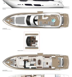 sunseeker 95 yacht layout diagram [ 825 x 1200 Pixel ]