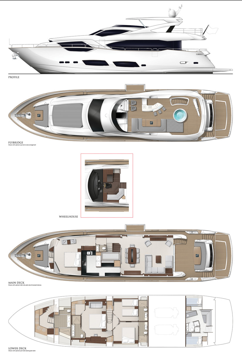 hight resolution of sunseeker 95 yacht layout diagram