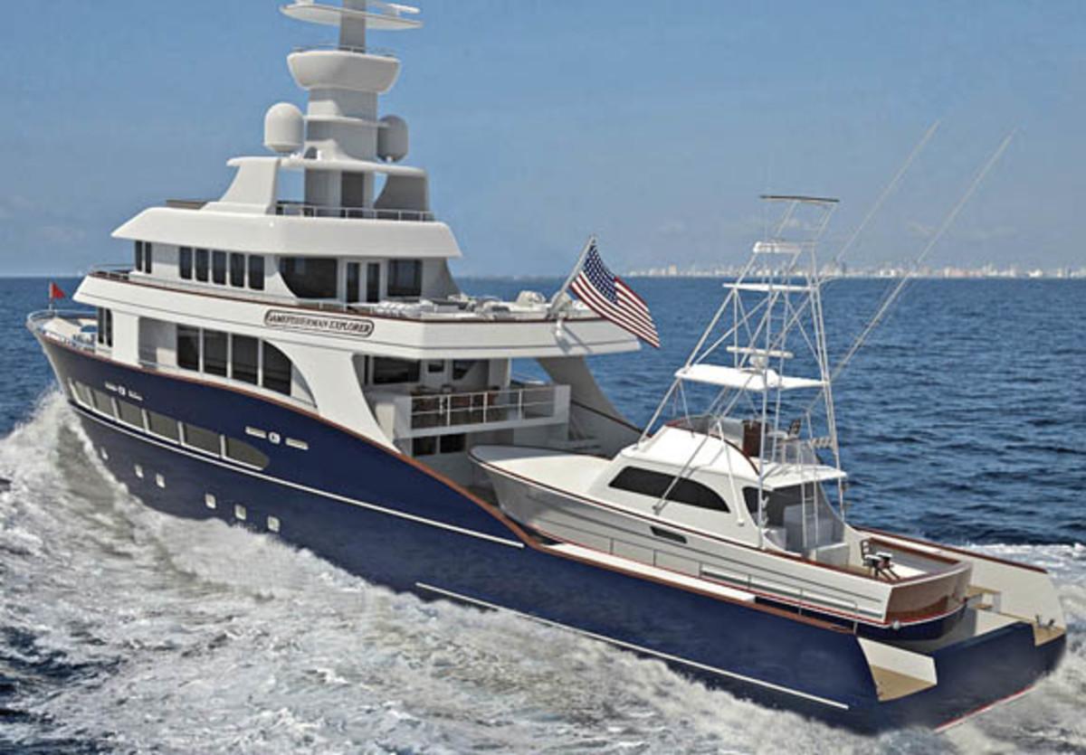 Gamefisherman Builds A Megayacht Power Amp Motoryacht