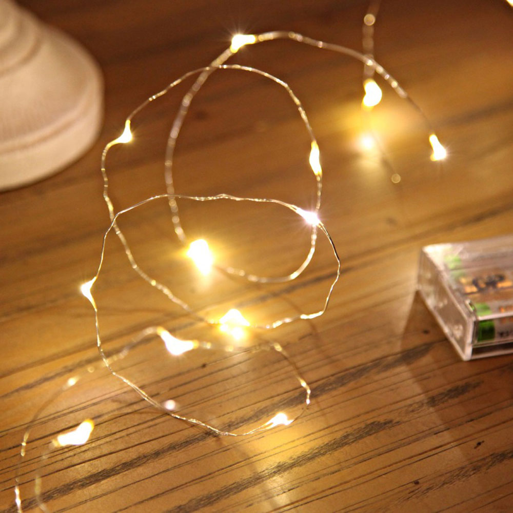 Micro Battery Fairy Lights on Silver Wire 20 LEDs