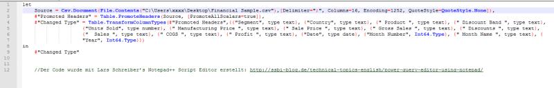 M Code csv Import