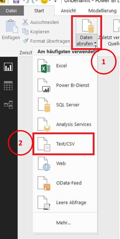 Daten aus CSV und TXT Dateien importieren - PowerBI Pro