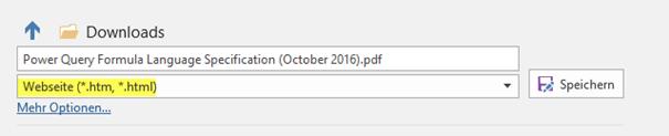 PDF als Webseite speichern