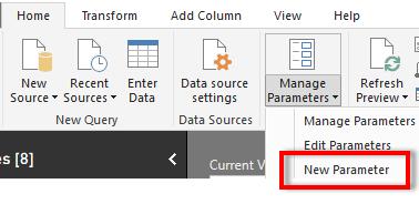 Create new parameter