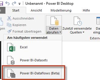 Power BI Dataflow abrufen