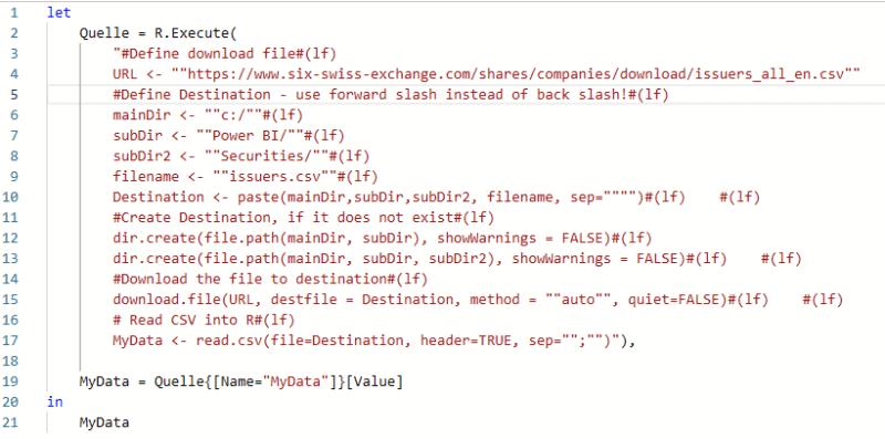 bisheriger M Code