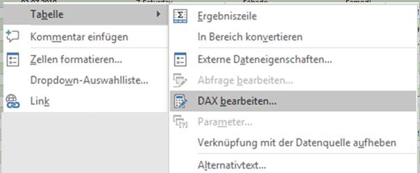 """Dialog """"DAX bearbeiten"""""""
