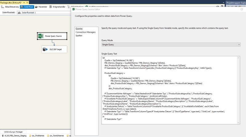 Power Query in SSIS