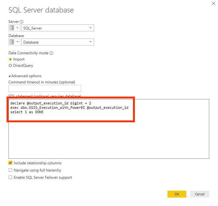 ajdusted SQL Statement