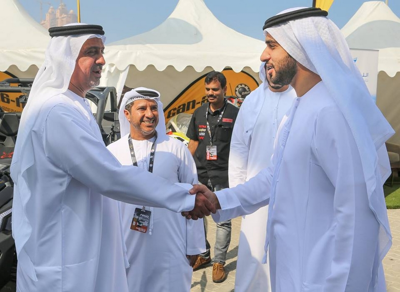 his-highness-sheikh-dr-sultan-bin-khalifa-al-nahyan-takes-a-tour-of-the-paddock-with-vips-and-senior-adimsc-officials