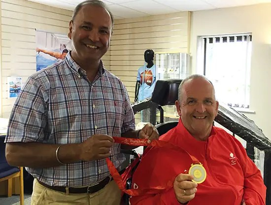Boccia player Nigel Murray MBE at POWERbreathe UK HQ