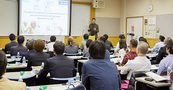 Dr Langer presents IMT/RMT workshops in Japan using POWERbreathe