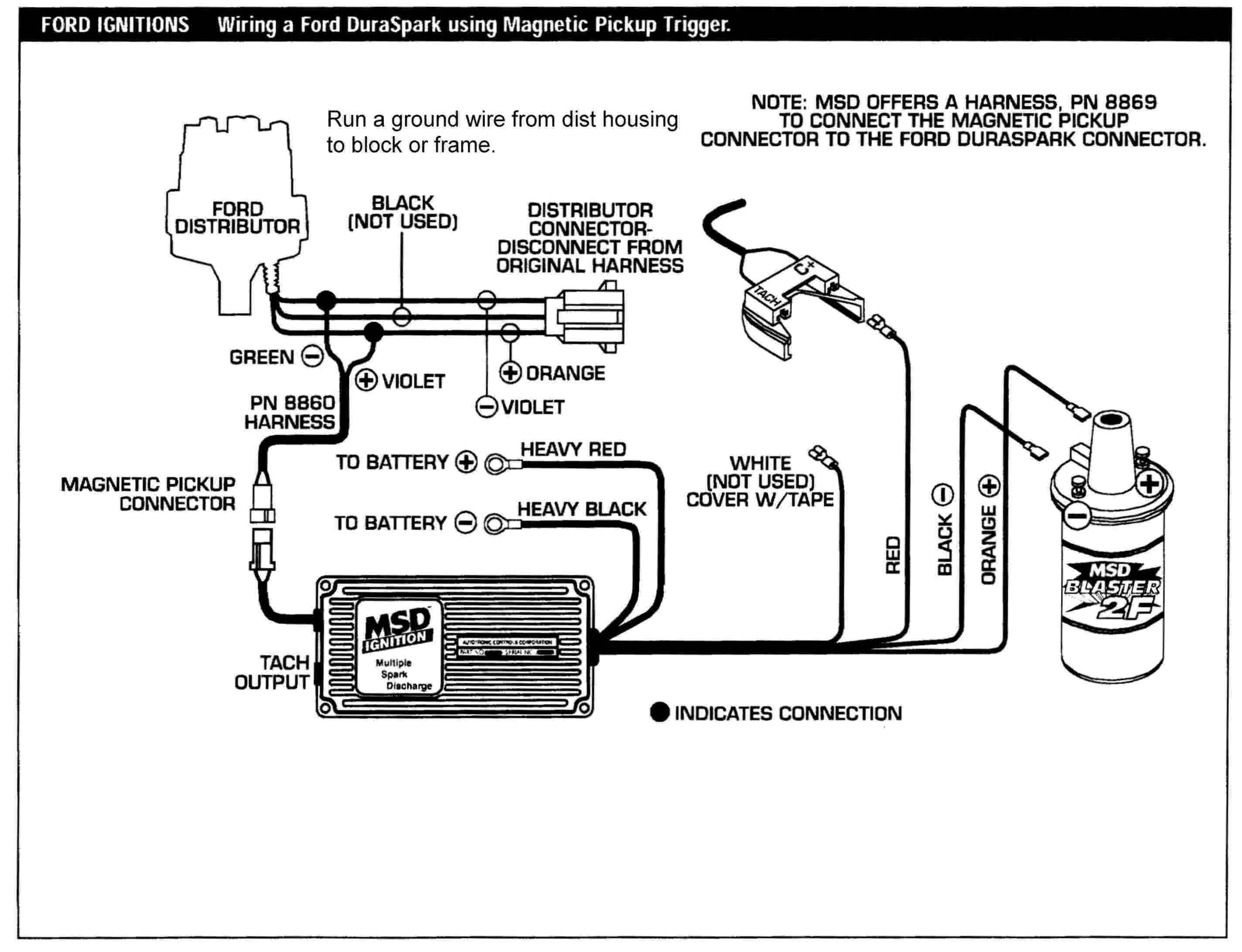msd ignition 6al wiring diagram 7 way flat blade trailer hei 6a get free image about