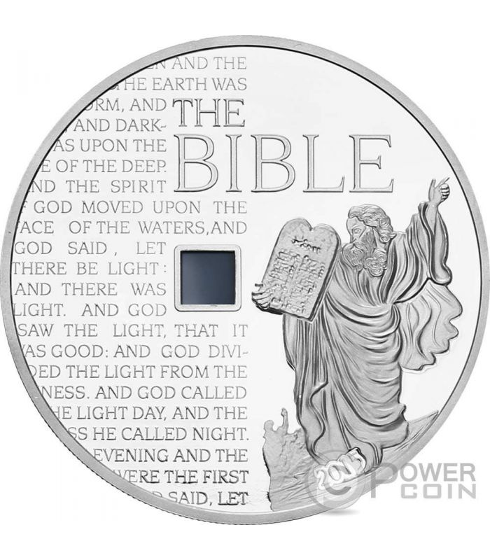 MOSES OLD TESTAMENT Nano Bible I Chip 1 Oz Silver Coin