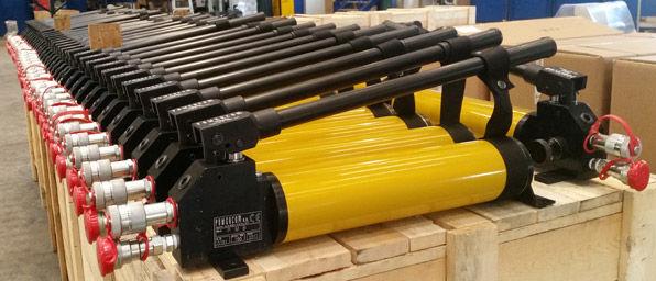 stringing equipment presses hydraulic