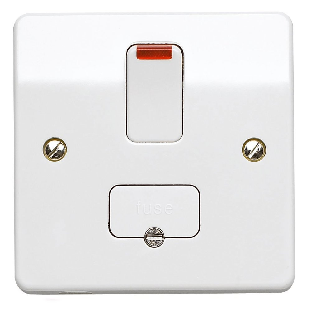 medium resolution of mk electric k1060whi logic plus white moulded double pole switched connection unit with neon 13a 5467 p jpg
