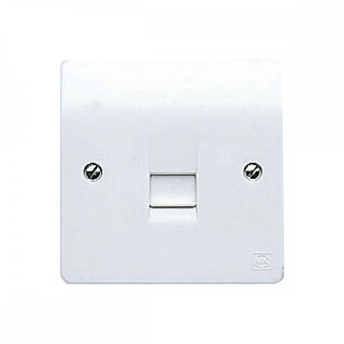 small resolution of mk electric k427whi logic plus white moulded single bt secondary telephone socket