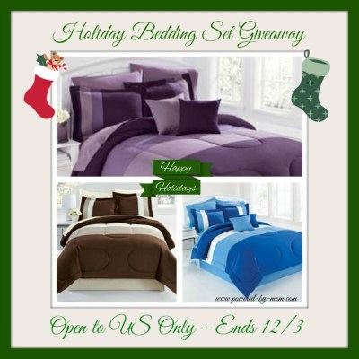 Brylane Home Bedding Set for the Holidays Giveaway ends 12/3