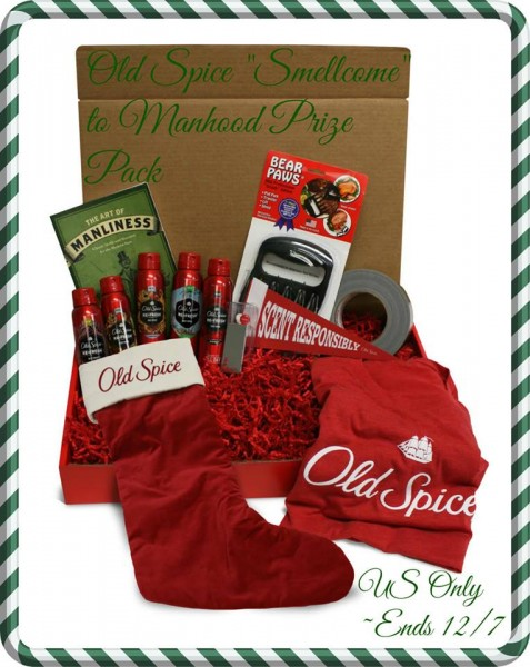 old spice holiday prize