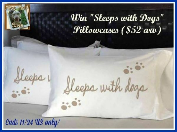 sleeps with dogs pillowcases button