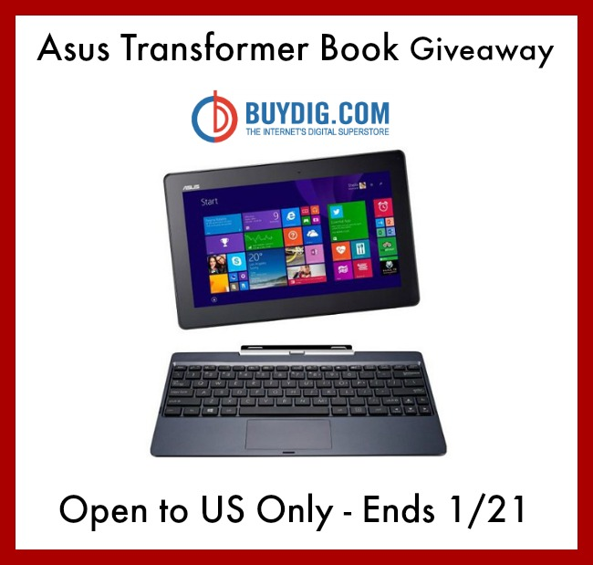 Asus Transformer Book T100 Giveaway ends 1/21 - Powered By Mom