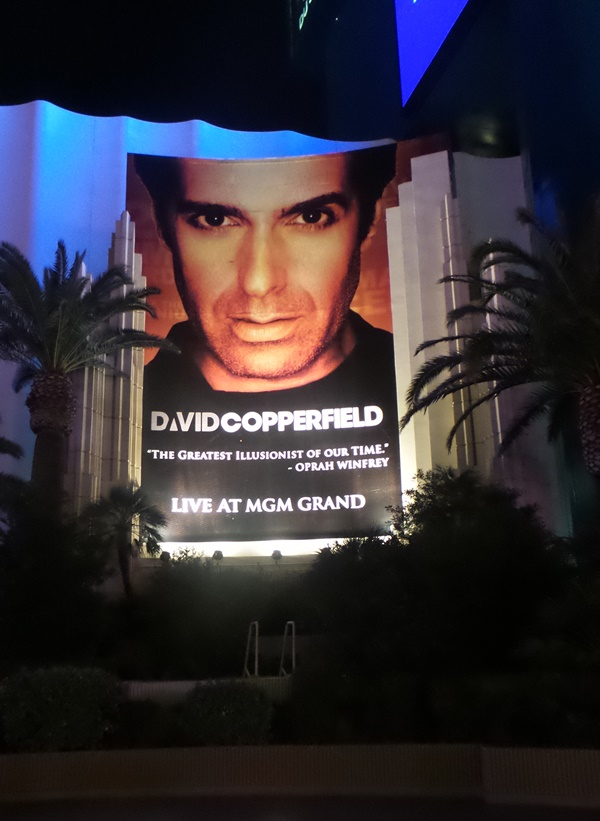 David Copperfield outside sign