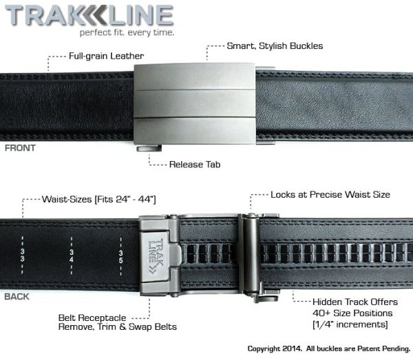 Trakline Belt patented buckle technology