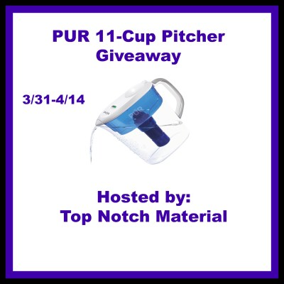 PUR 11 cup pitcher Giveaway ends 4/14 US Only